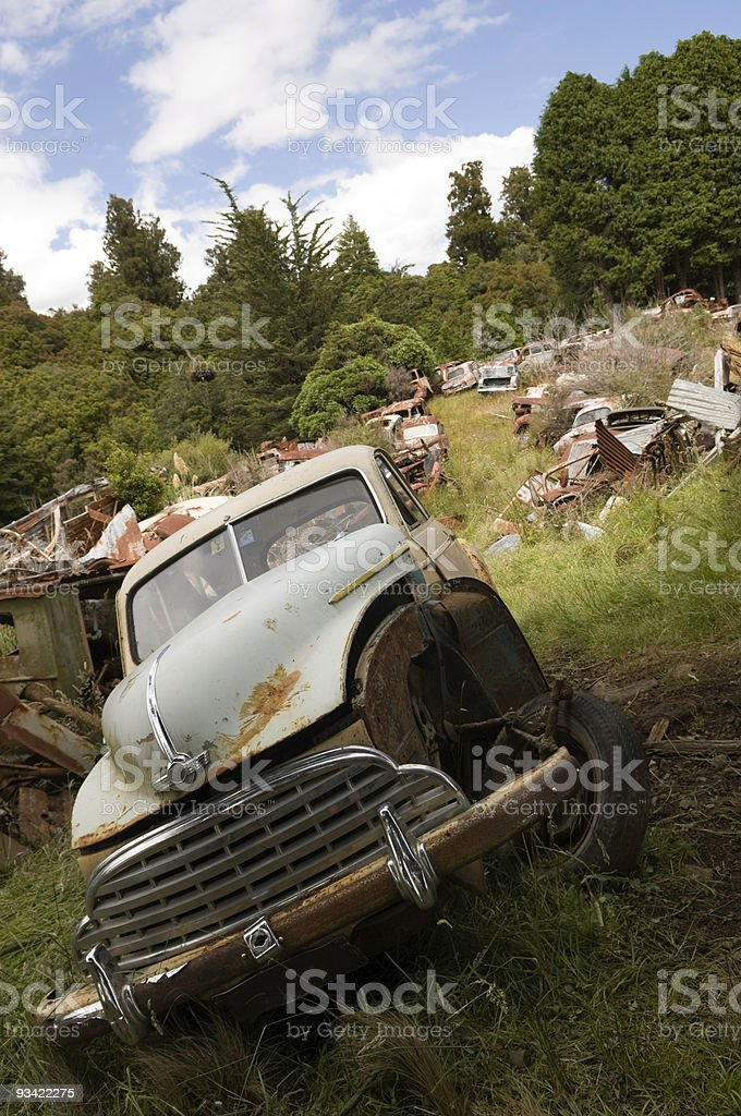 Country Scrap Yard royalty-free stock photo