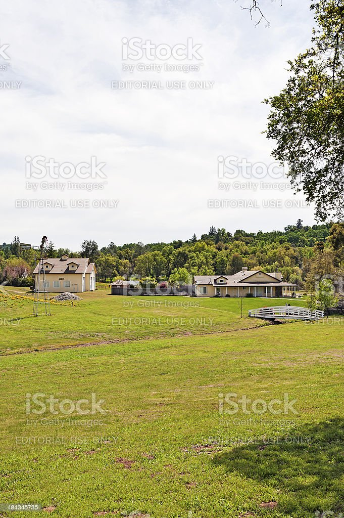 Country Setting stock photo