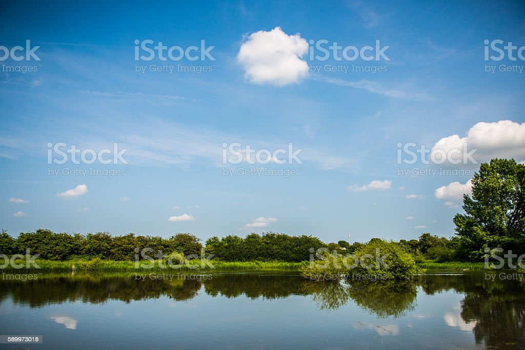 Country side lake. stock photo