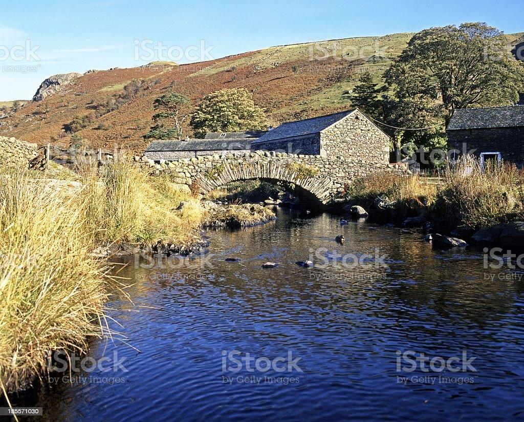 Country stream, Watendlath, Cumbria. stock photo