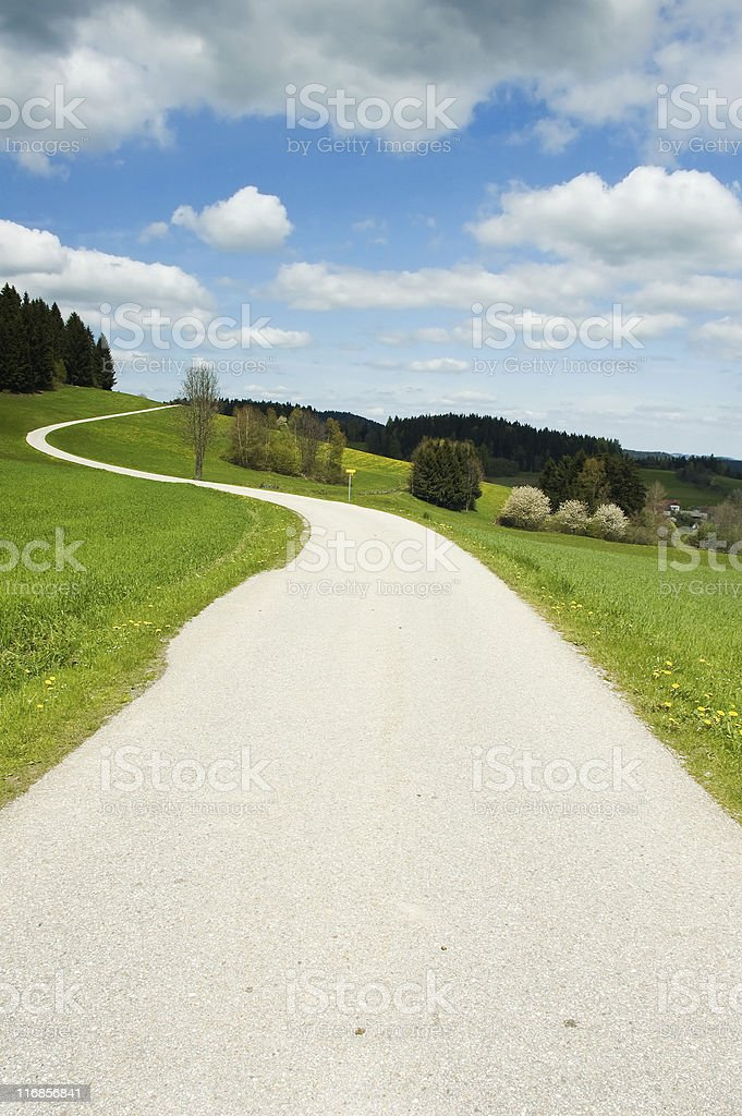 Country Street royalty-free stock photo