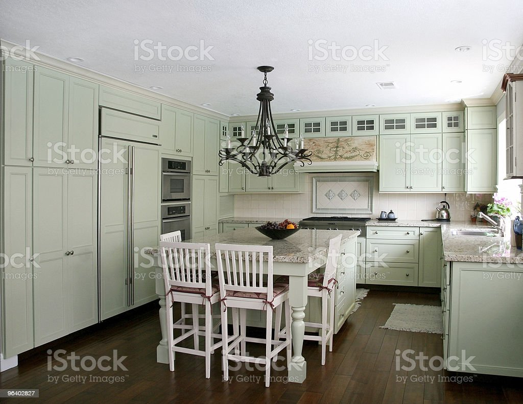 Country style kitchen stock photo