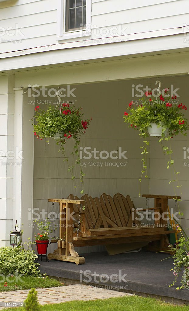 Country style porch stock photo