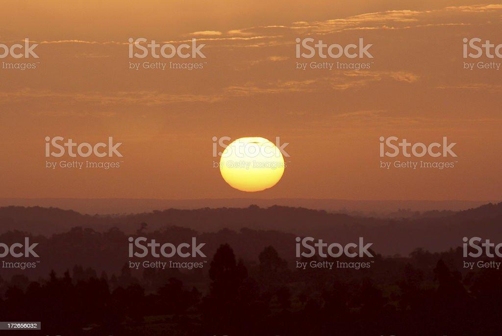 Country Sunrise 01 royalty-free stock photo