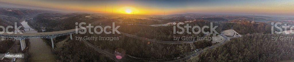 Country Sunrise stock photo