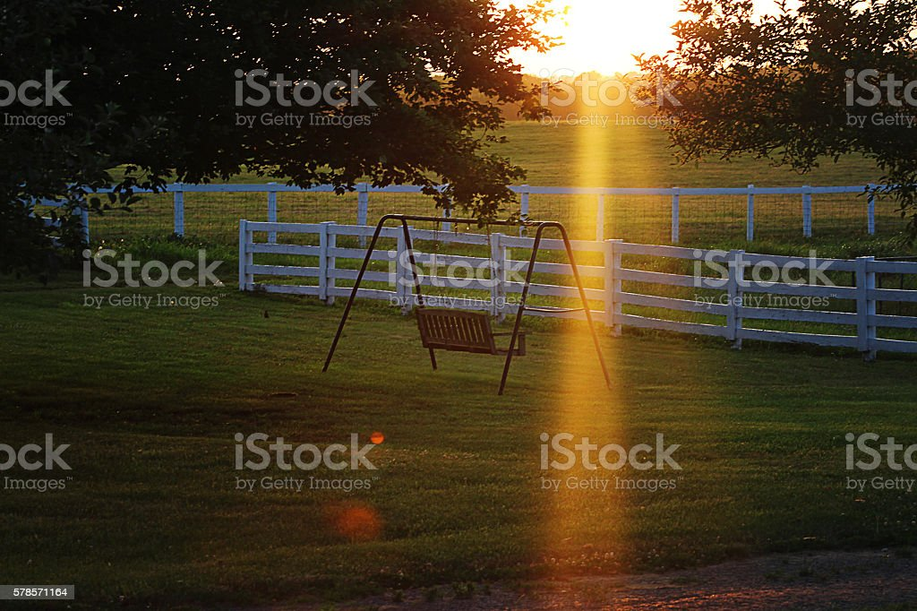 Country Sunset royalty-free stock photo