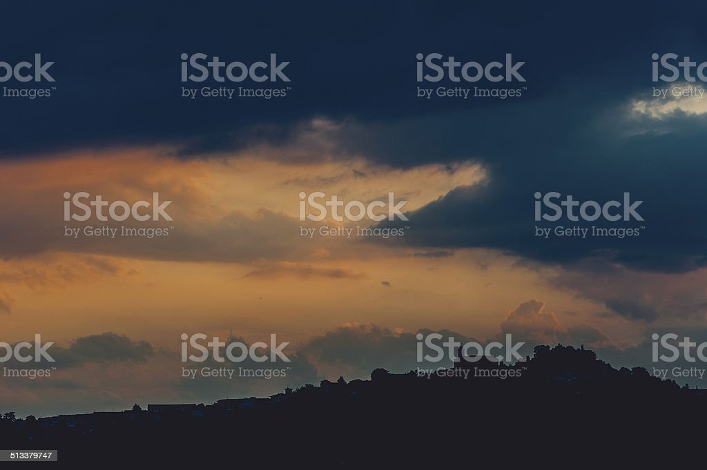 Country town stock photo
