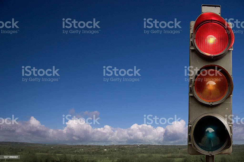 Country Traffic Lights royalty-free stock photo