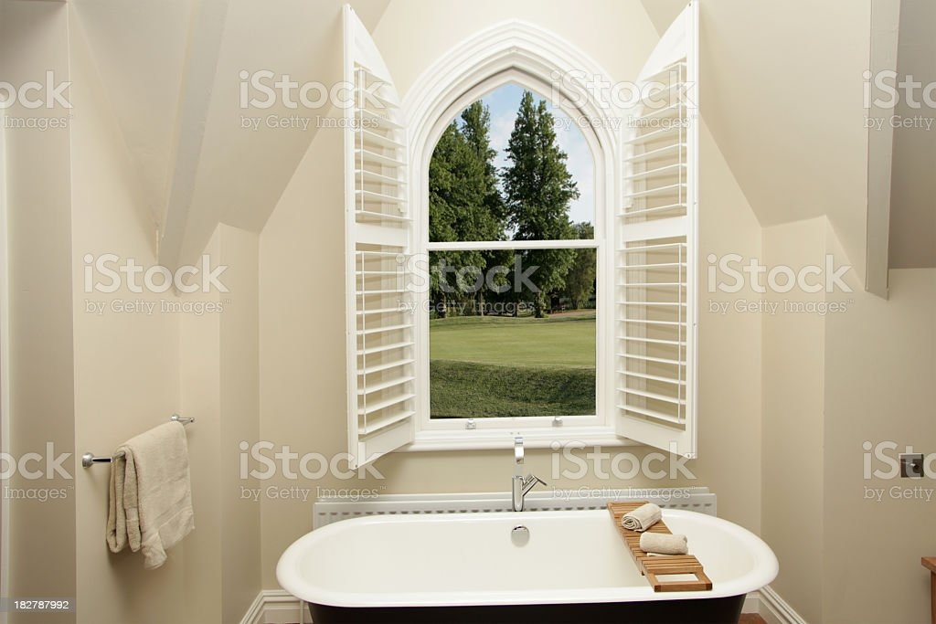 Country View Bathroom royalty-free stock photo