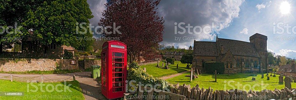 Country village summer sunburst royalty-free stock photo