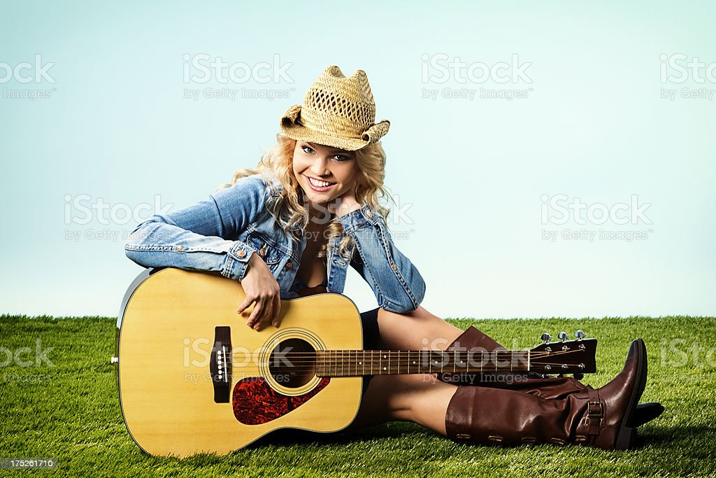 Country Western Girl royalty-free stock photo