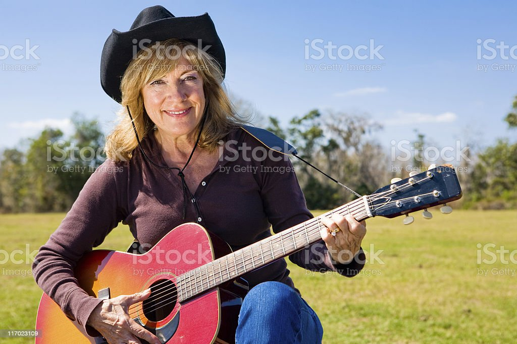 Country Western Musician royalty-free stock photo