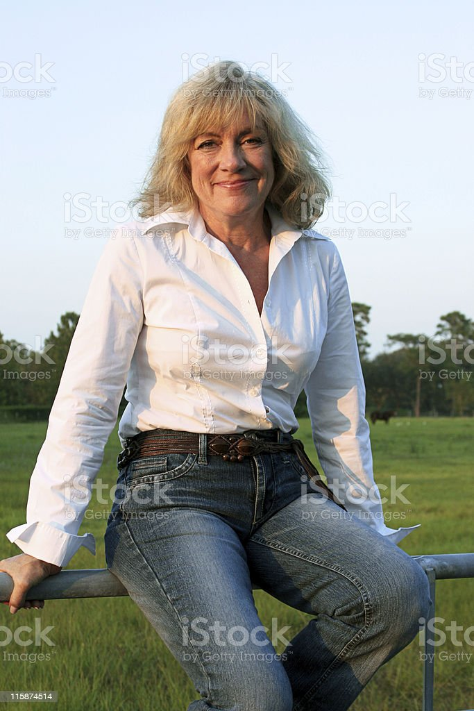 Country Western Woman Smiling royalty-free stock photo