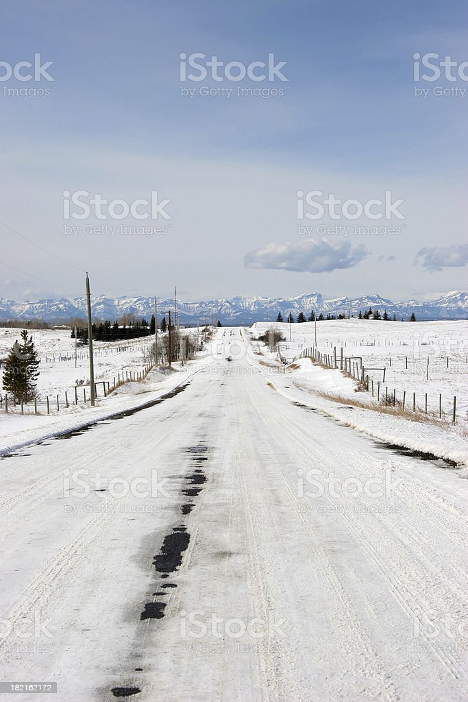 Country Winter Roadway royalty-free stock photo