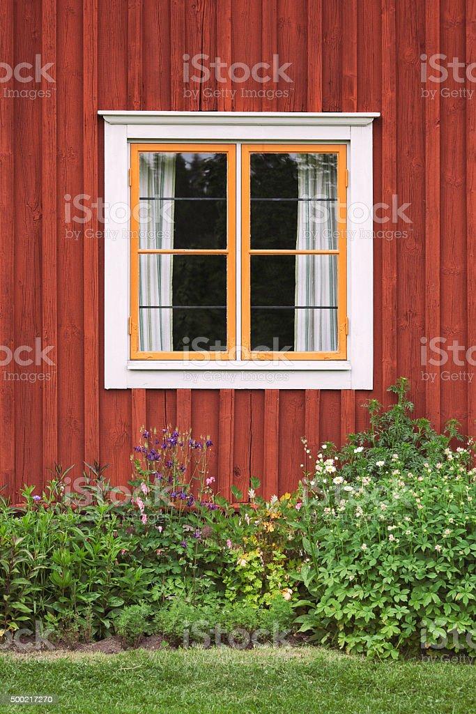 Countryhouse window stock photo
