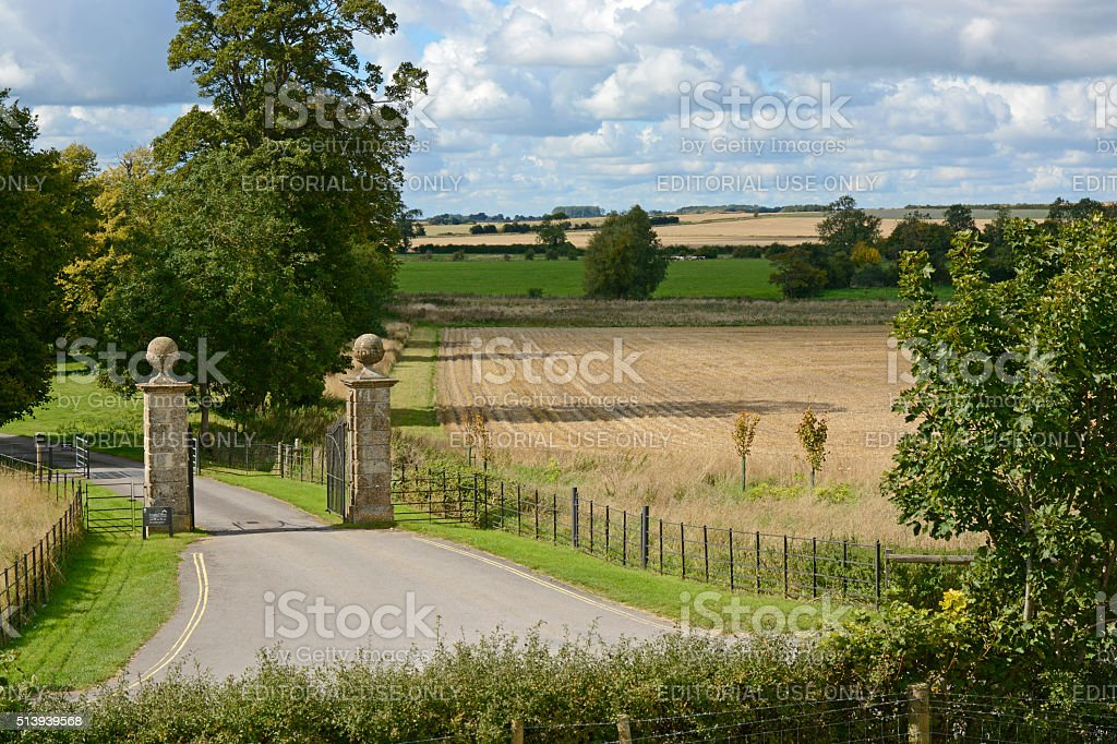 Countryside at Avebury, Wiltshire, England stock photo