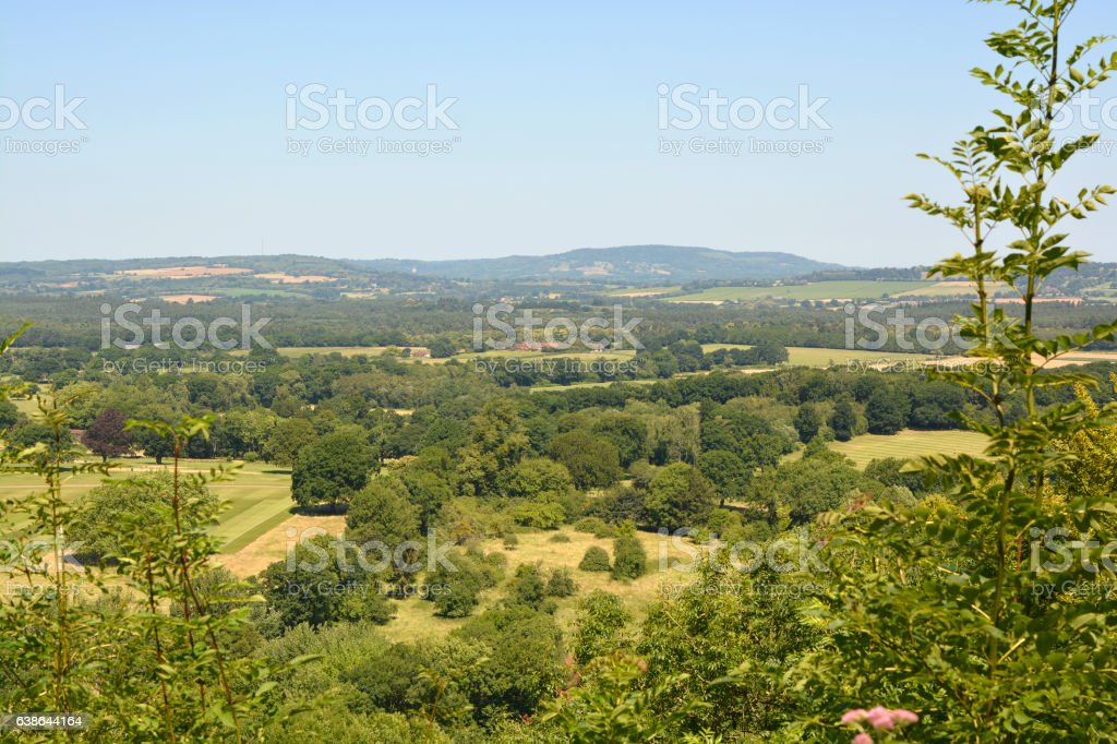 Countryside at Duncton in West Sussex, England stock photo