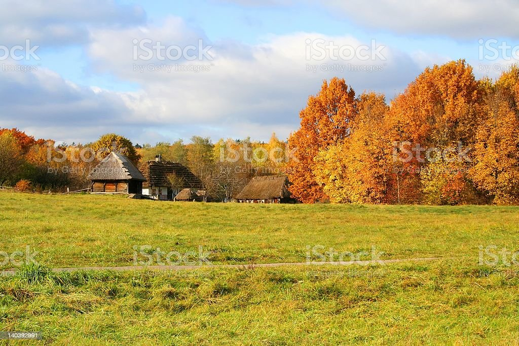 Countryside Autumn Landscape royalty-free stock photo