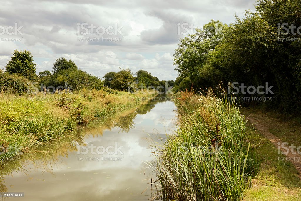 Countryside Canal Scene stock photo
