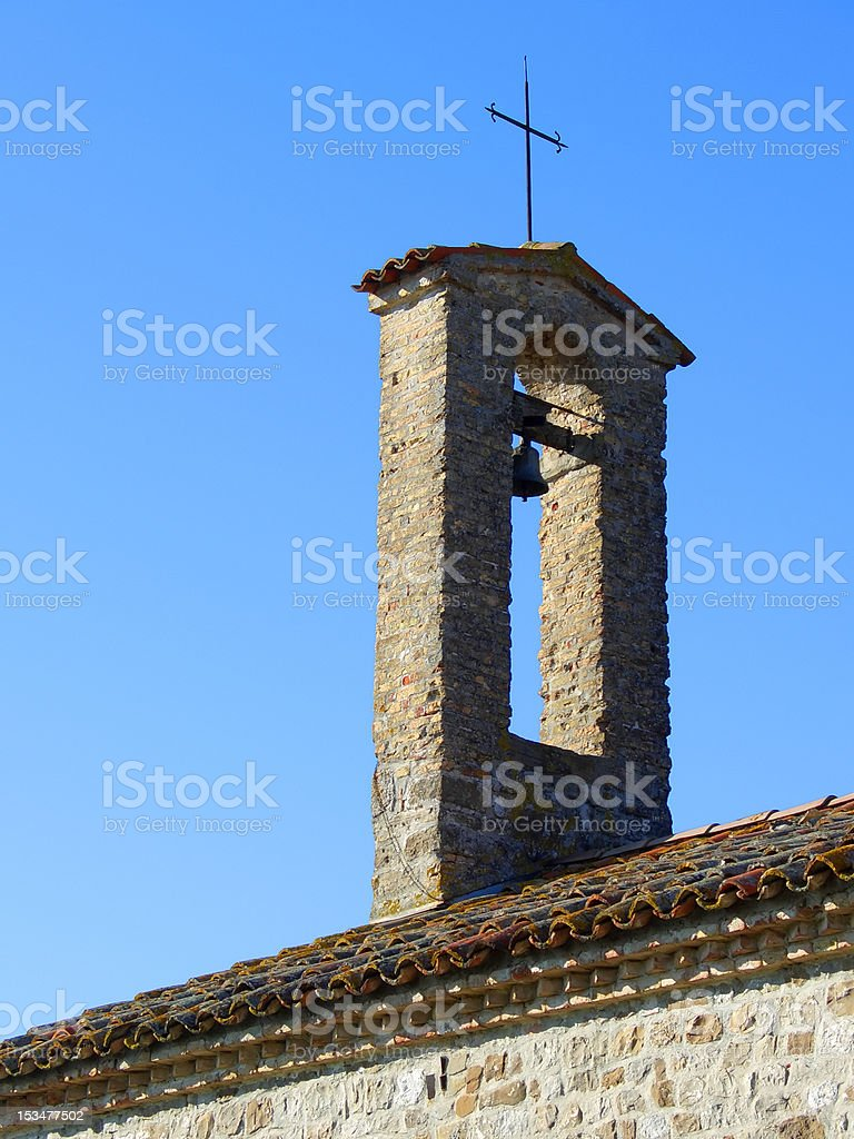 Countryside chapel top royalty-free stock photo