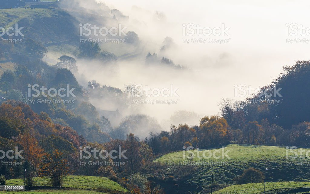 Countryside Fog stock photo