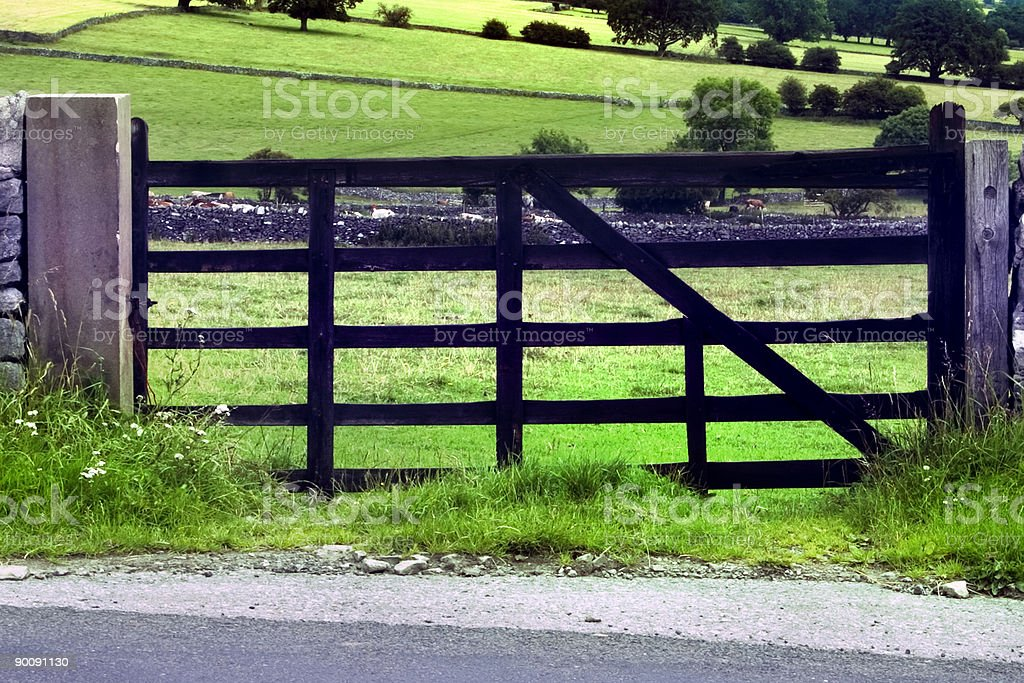 Countryside Gate royalty-free stock photo
