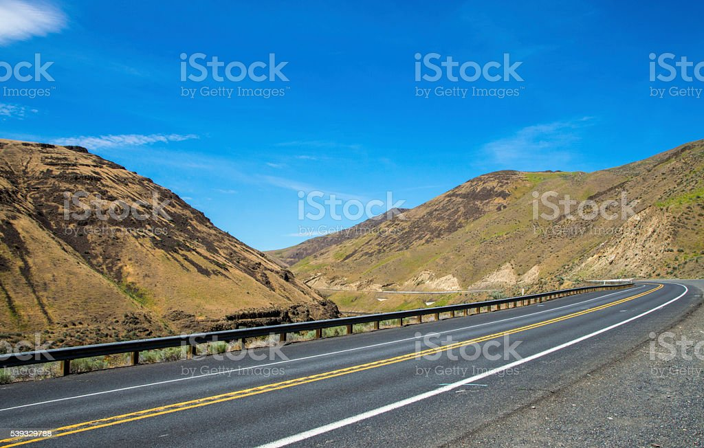 countryside highway stock photo