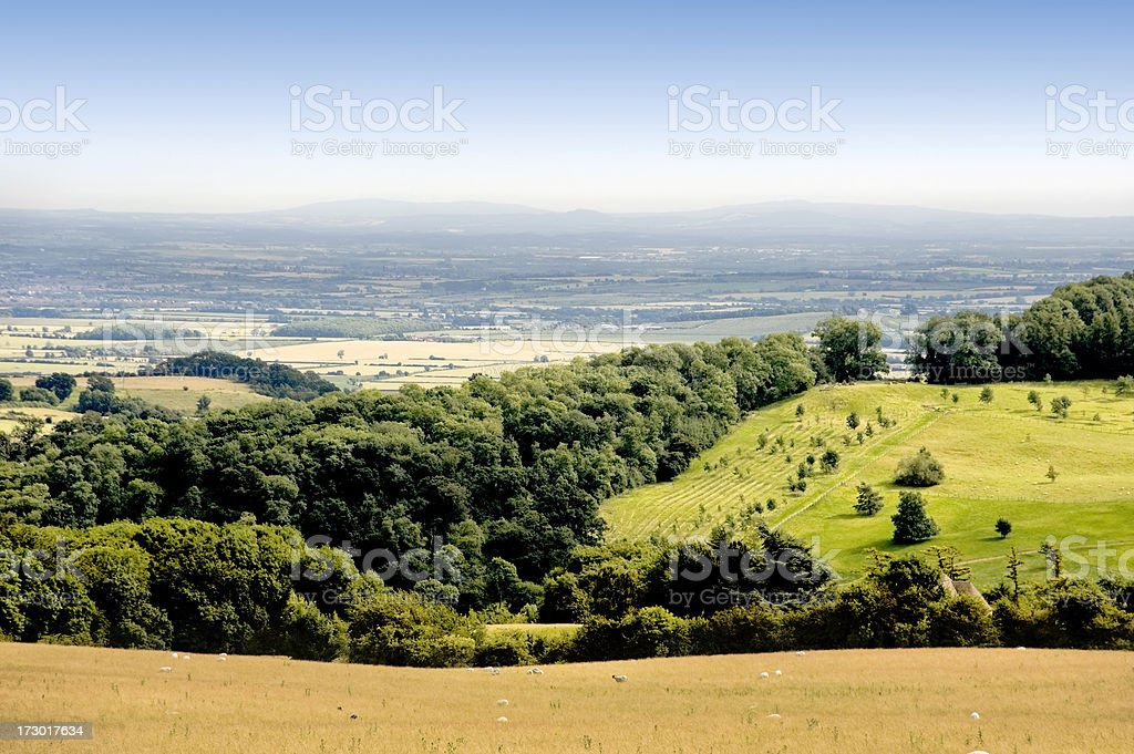 countryside hills stock photo