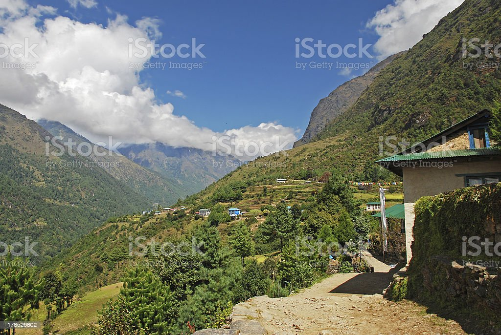 Countryside in Himalayas, Nepal royalty-free stock photo