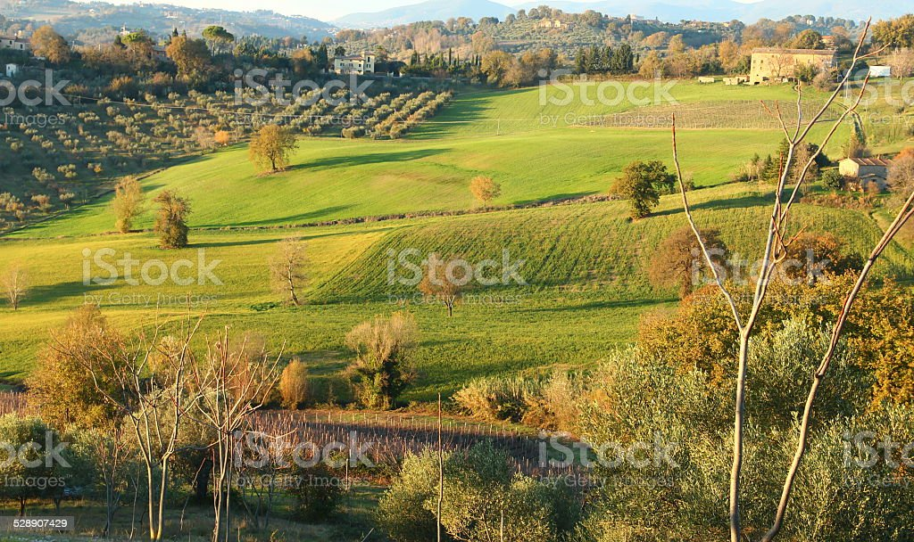 Countryside in Italy stock photo