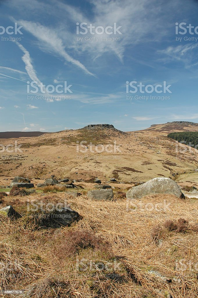 Countryside in the Peak District, England stock photo