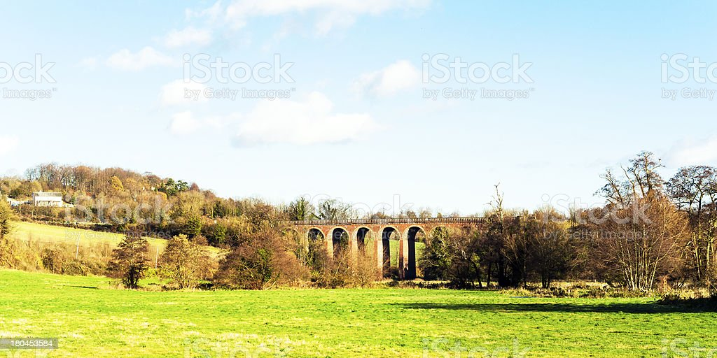 UK countryside Kent Viaduct eynsford stock photo