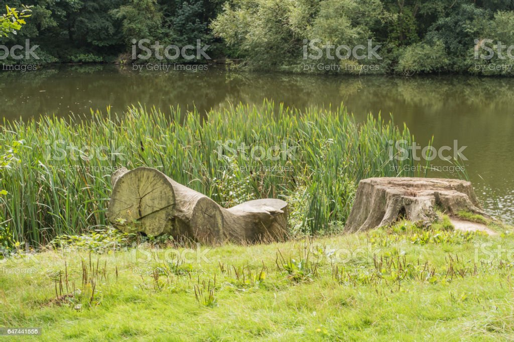 countryside lake near the weald of Kent stock photo