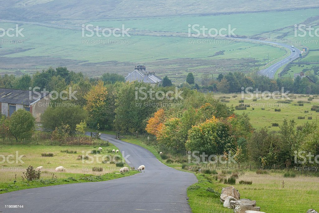 Countryside landscape in Peak District, UK royalty-free stock photo