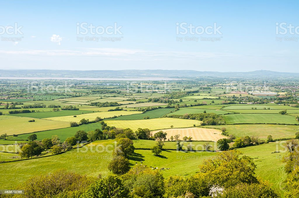 Countryside Landscape In The Cotswolds, England stock photo