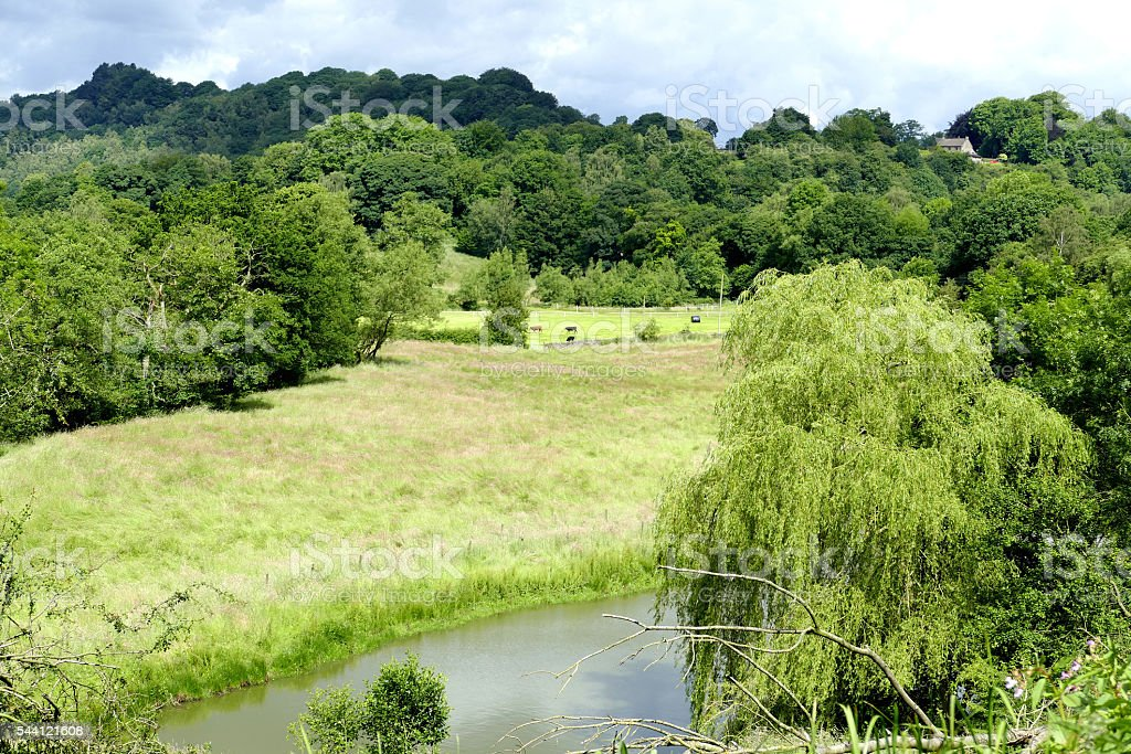 Countryside landscape. stock photo