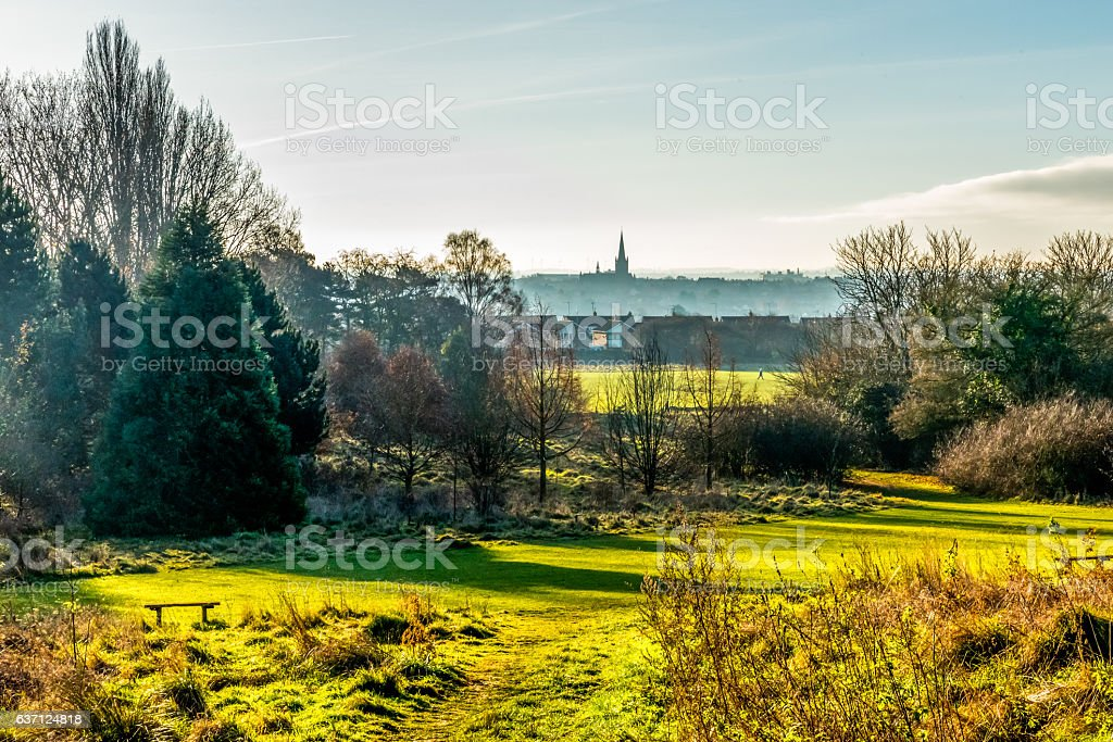 Countryside Landscape View in United Kingdom stock photo