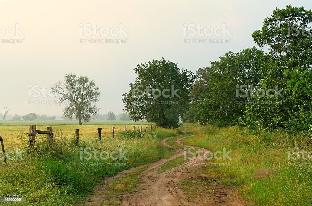 Countryside Morning royalty-free stock photo