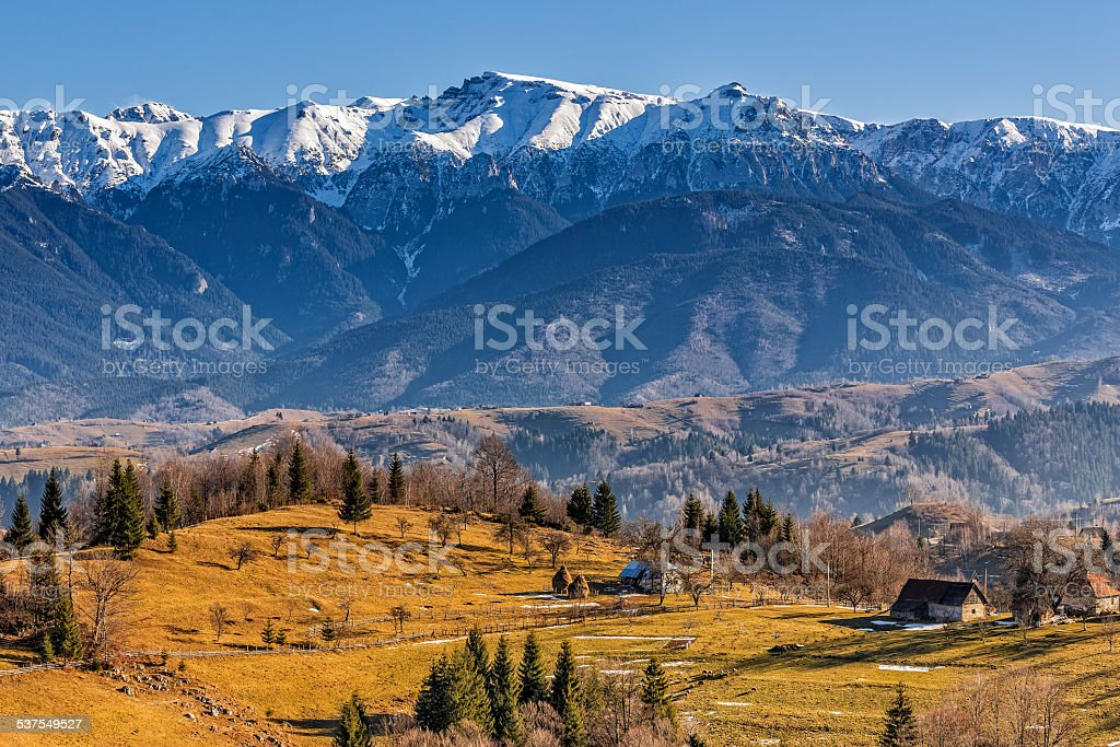Countryside mountain landscape stock photo