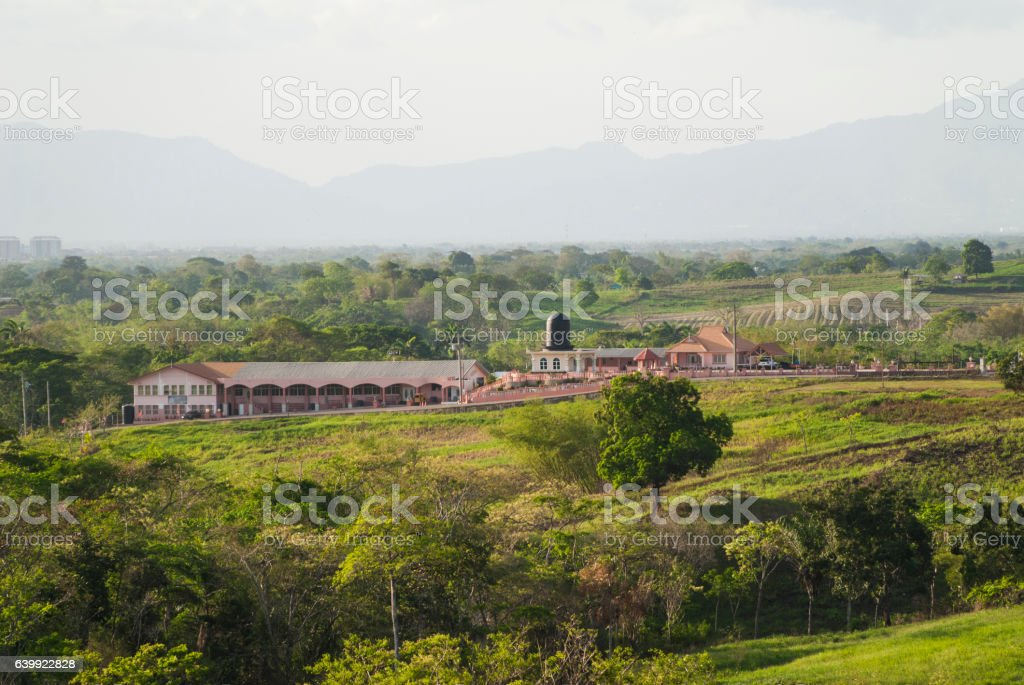 Countryside of Trinidad and Tobago stock photo