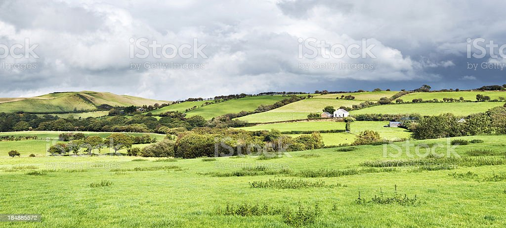 Countryside Panorama in Wales royalty-free stock photo