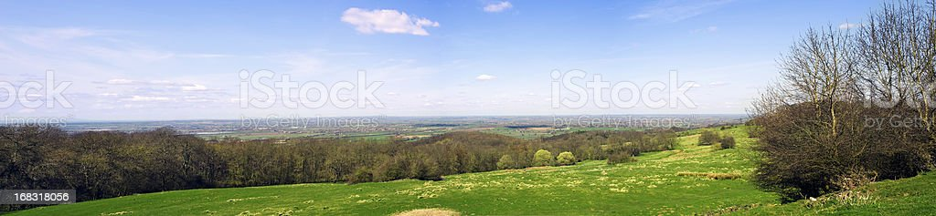 Countryside Panorama stock photo