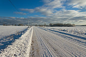 Countryside road in a winter.