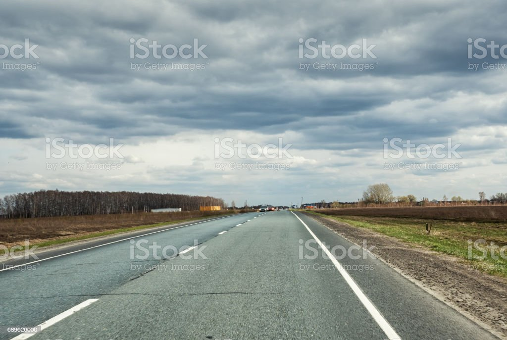 Countryside road stock photo
