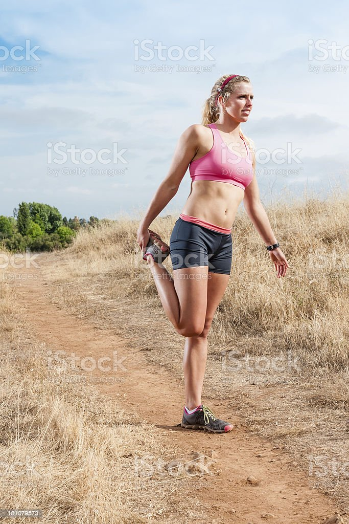 Countryside Runner royalty-free stock photo