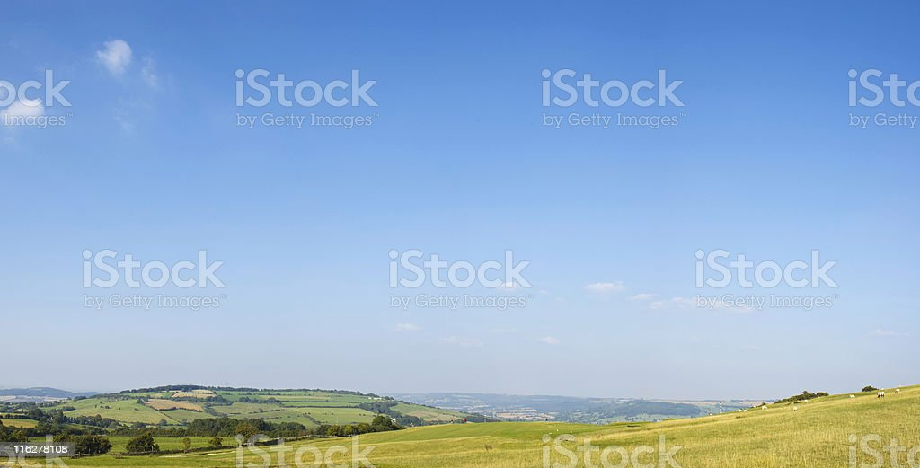 Countryside scenic with golf course.. stock photo