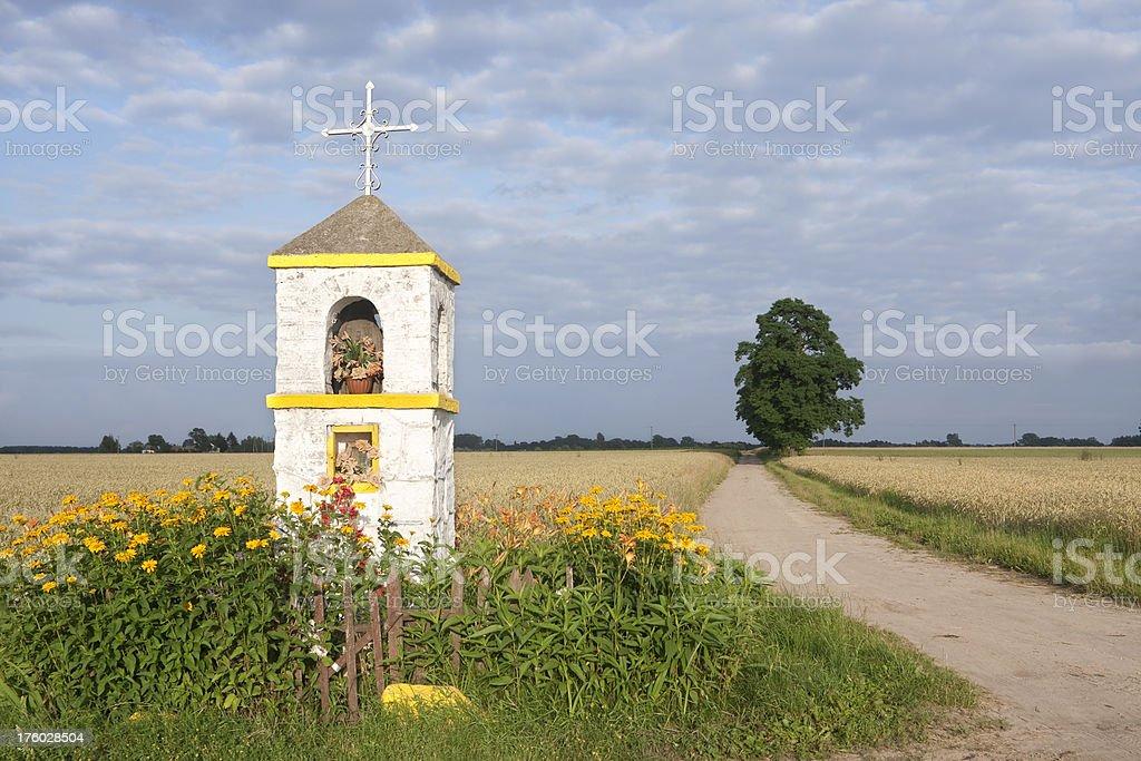 countryside shrine stock photo
