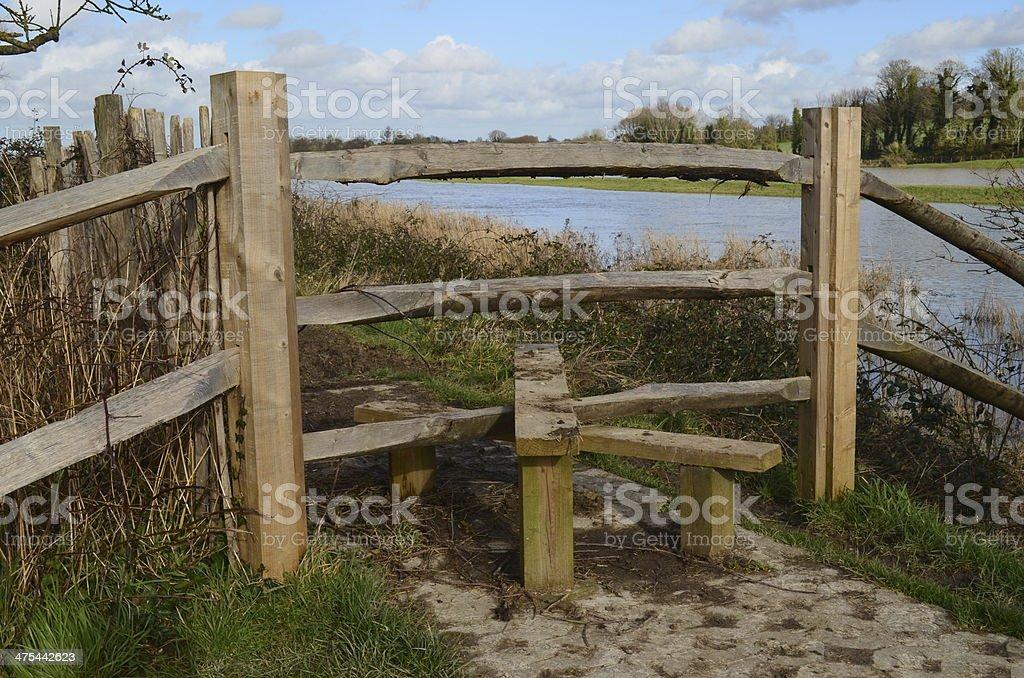 Countryside stile gate. stock photo