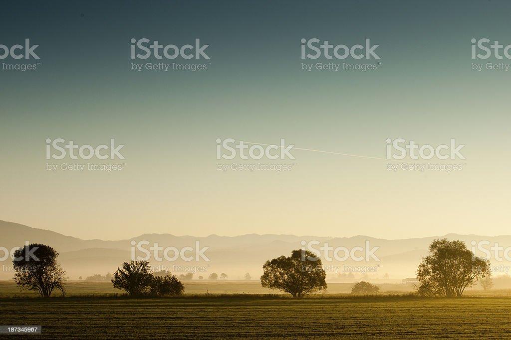 Countryside sunrise royalty-free stock photo