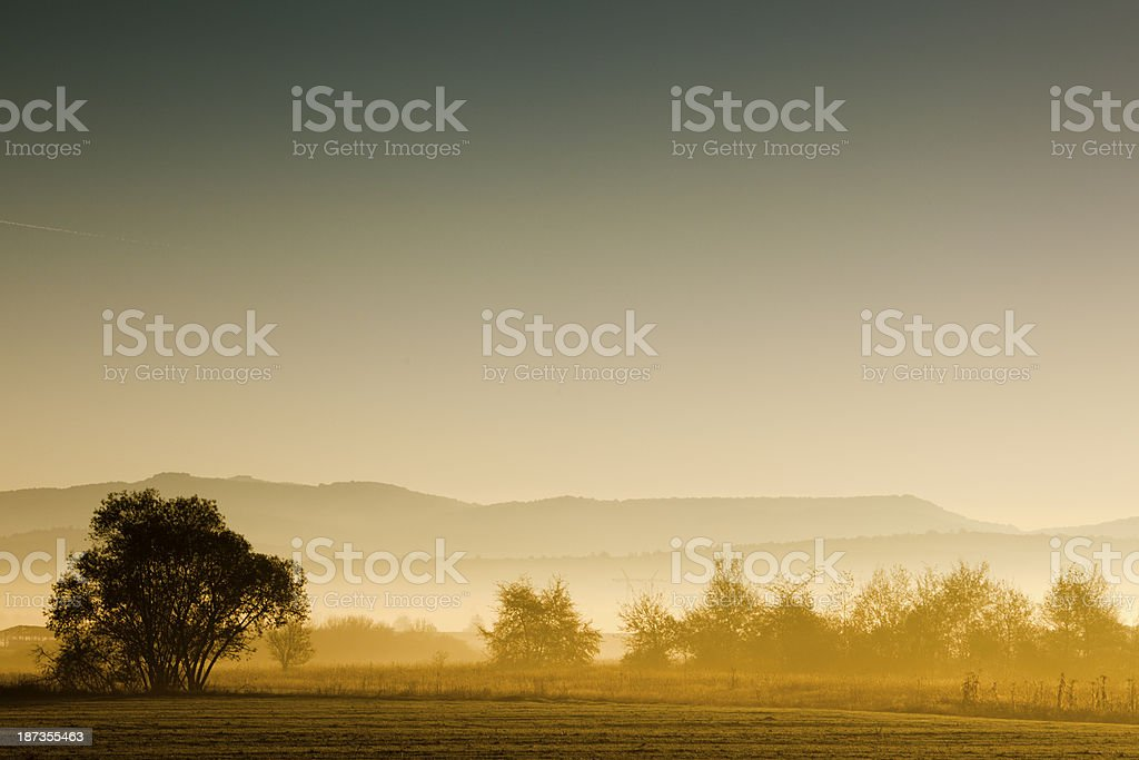 Countryside sunrise stock photo